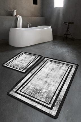 ipekhane Desenli Yıkanabilir 2'li Banyo Halısı