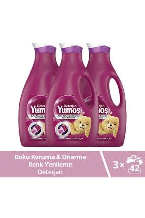 Yumoş Sıvı Bakım Çamaşır Deterjanı Renkli Giysiler İçin Renk Korumada Daha İyisi Yok 2520 ML x3
