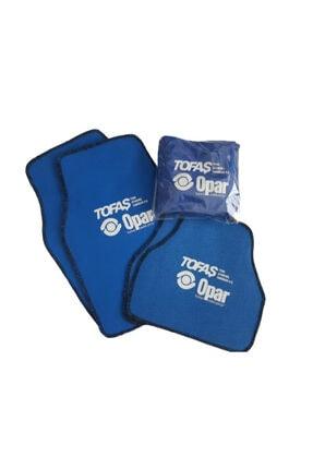 Tofaş Mavi Penye Servis Kılıfı Ve Halı Paspas Set