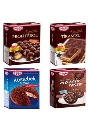 Dr. Oetker Profiterol,tiramisu,köstebek Ve Mozaik Pasta Paketi