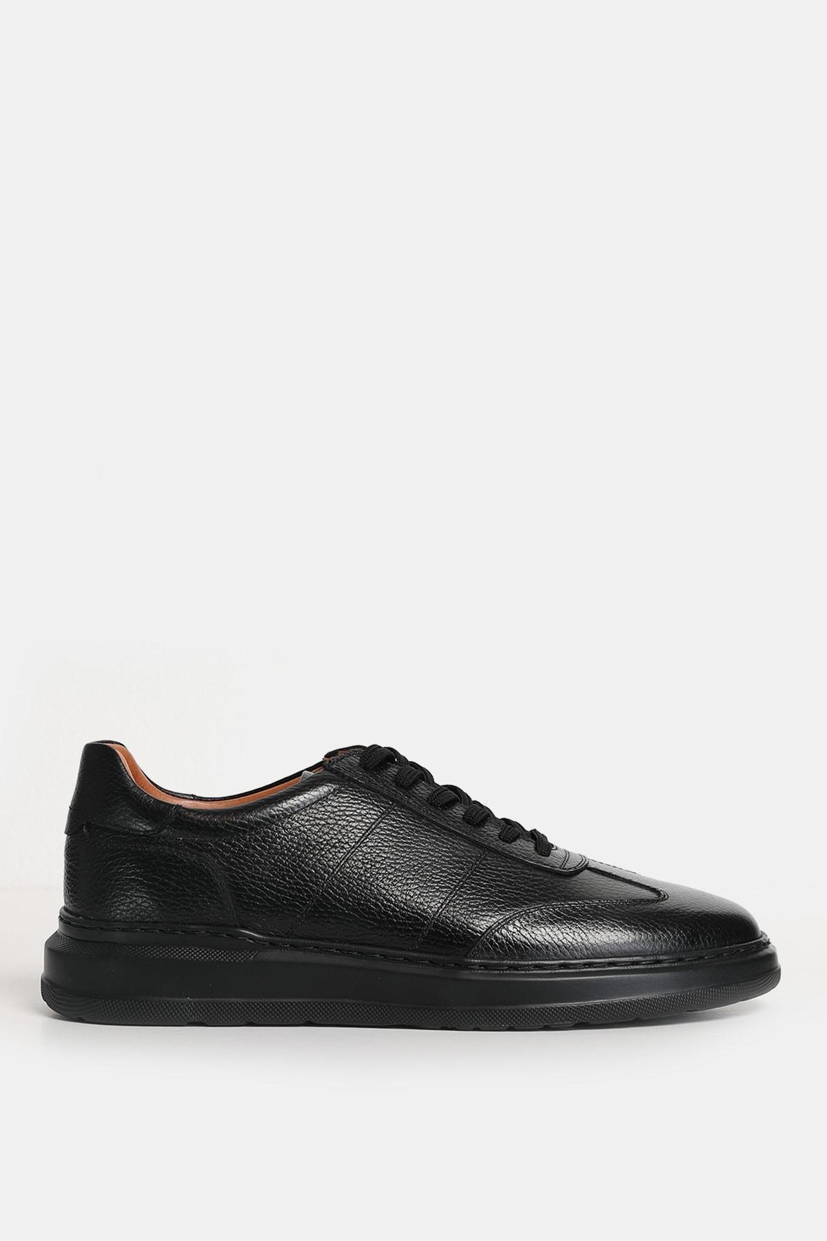 Lufian Toledo Süet Sneaker Siyah 1