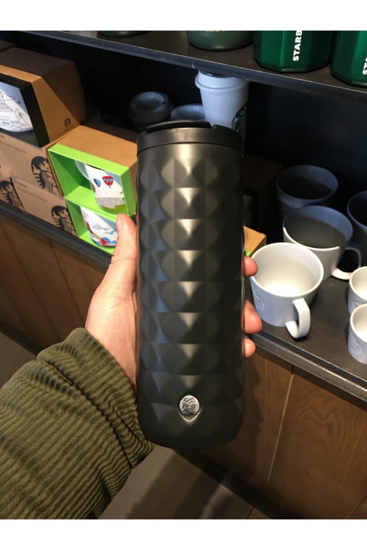 Starbucks Mat Siyah Klasik Seri Termos 473 ml 2