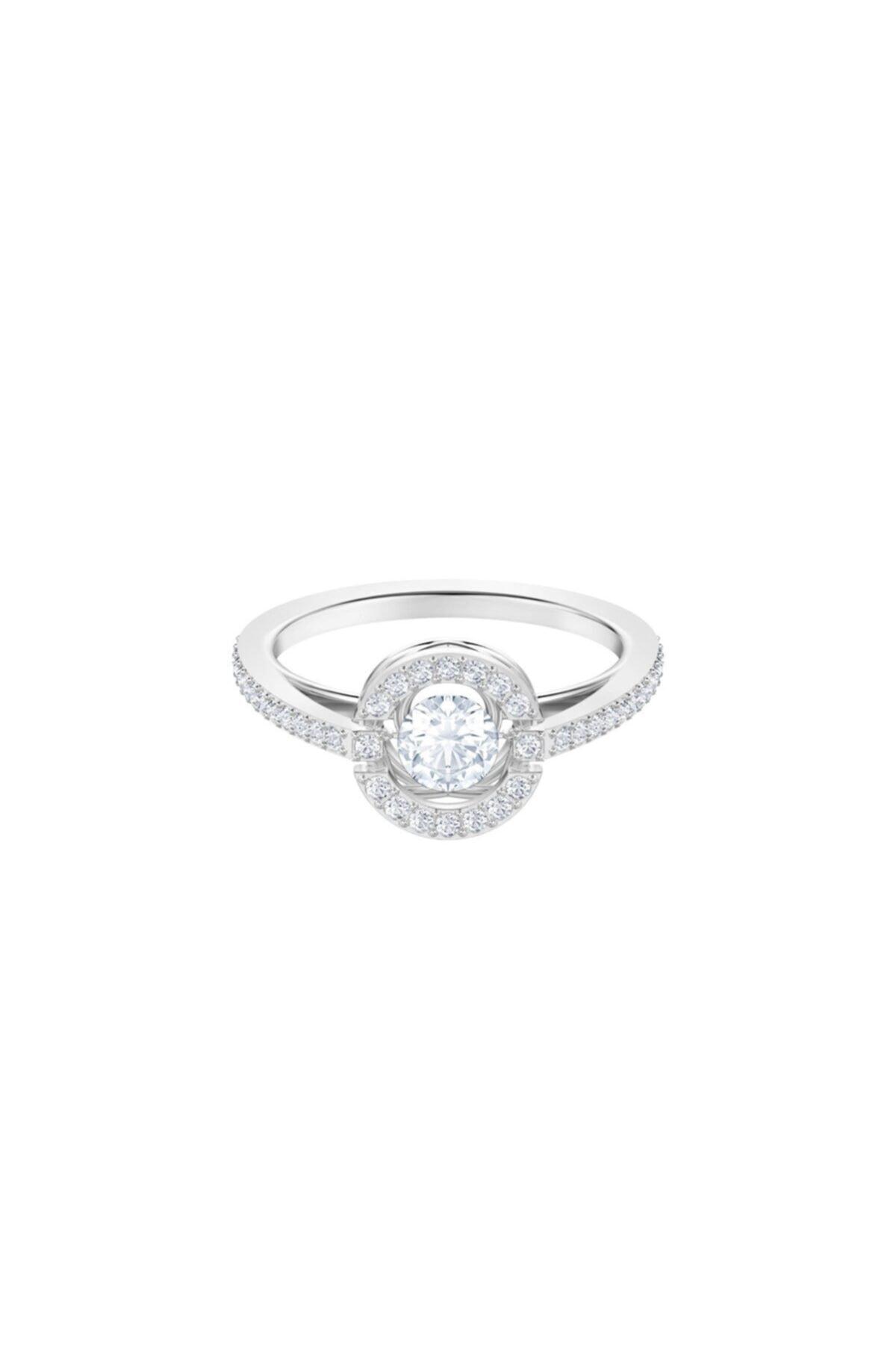 Swarovski Kadın Yüzük Sparkling Dc:Ring Rnd Czwh/Rhs 55 5465280 1