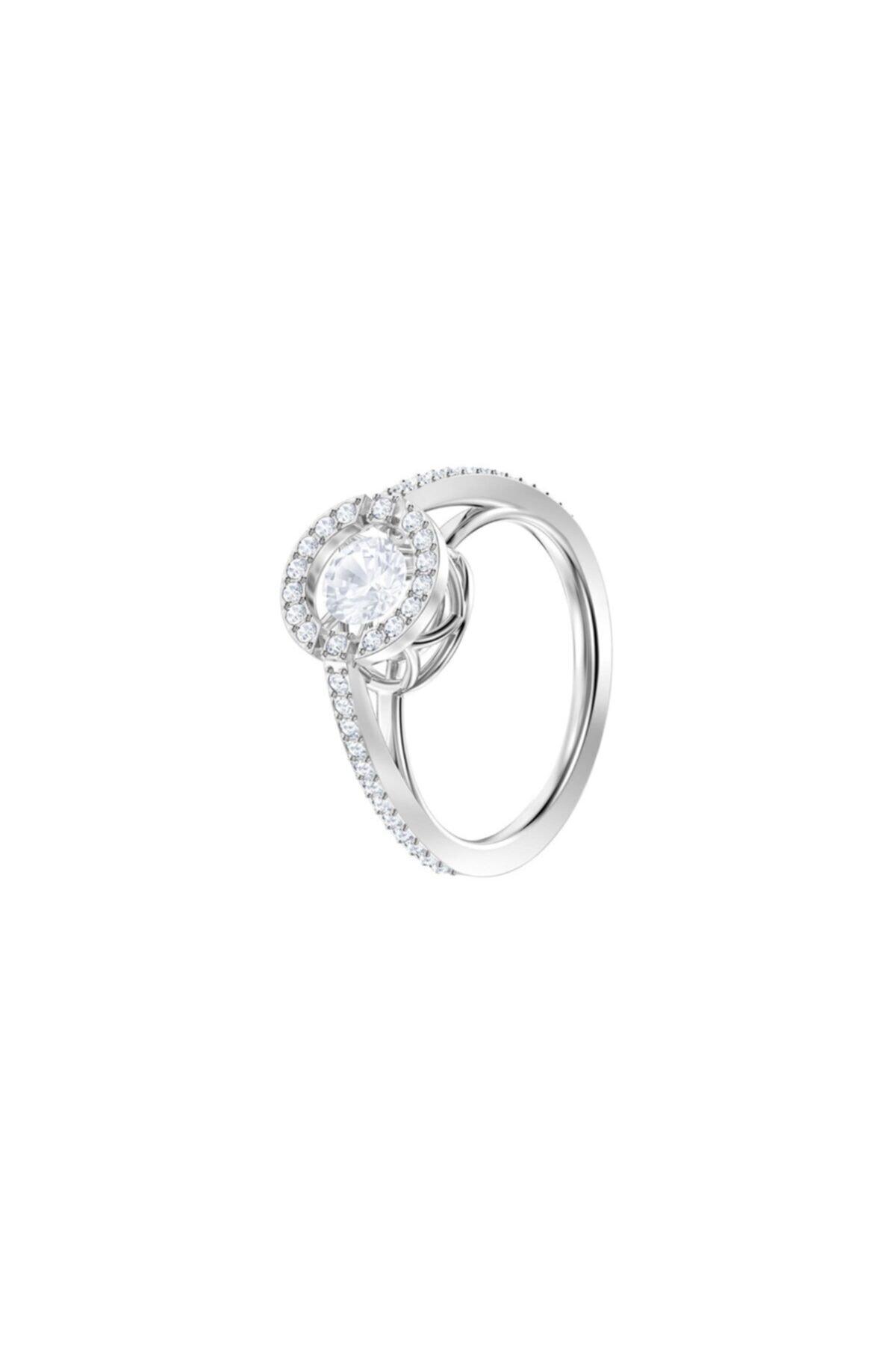 Swarovski Kadın Yüzük Sparkling Dc:Ring Rnd Czwh/Rhs 55 5465280 2