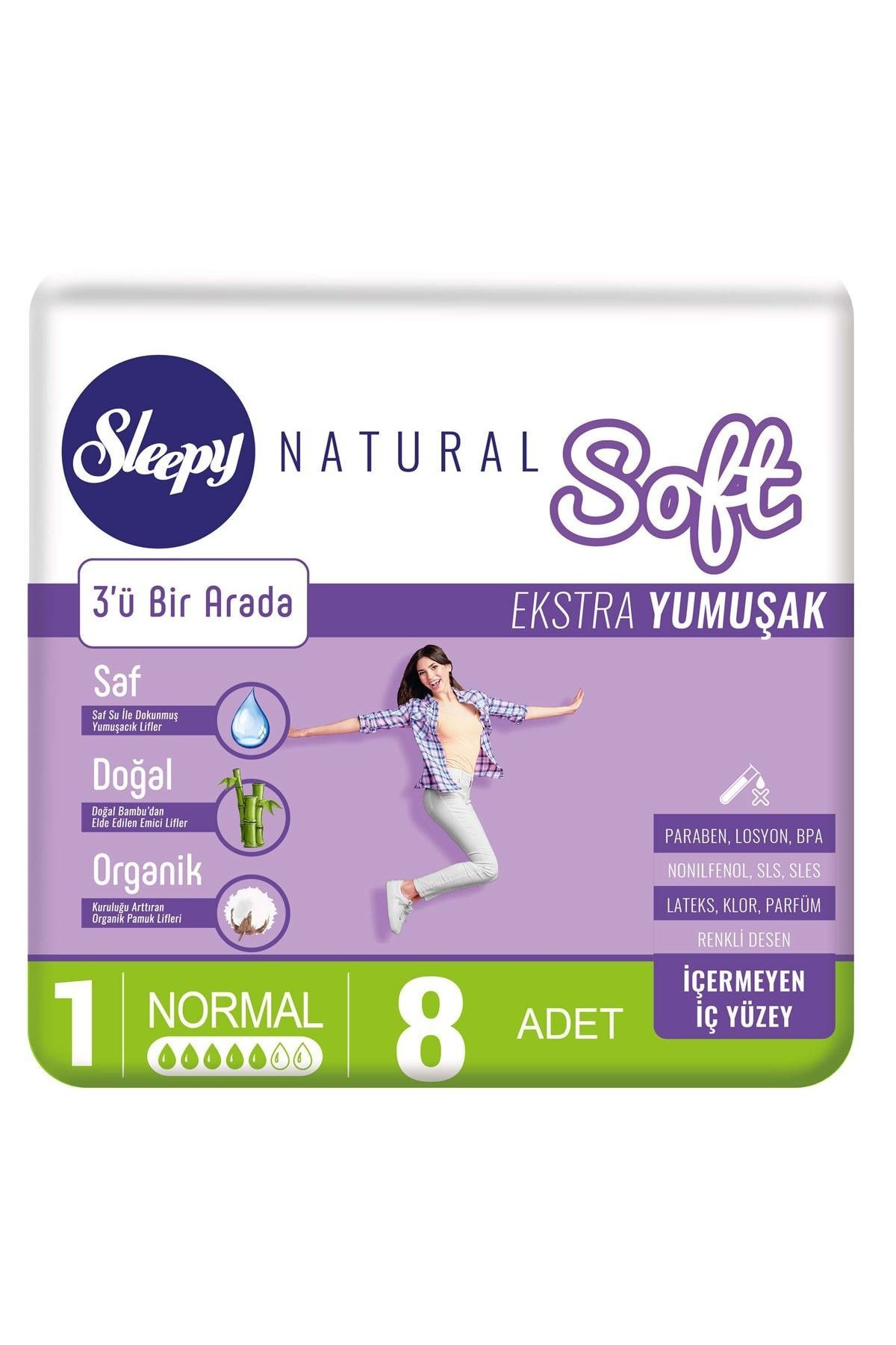 Sleepy Natural Soft Ekstra Yumuşak Normal 8 Ped