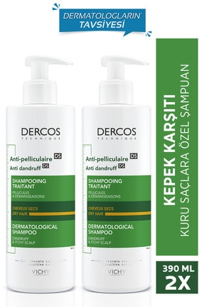 Vichy Dercos Anti-dandruff Normal Ve Yağlı Saçlar Için Kepeğe Karşı Etkili Bakım Şampuanı 390 Ml X2