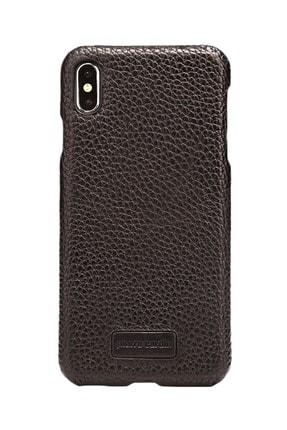 Pierre Cardin Iphone Xsmax Siyah Klasik Deri Arka Kapak
