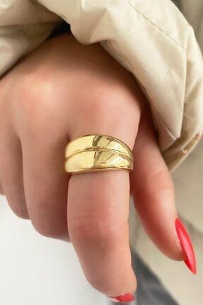 TAKIŞTIR Kadın Altın Rengi Metal Ayarlanabilir Yüzük