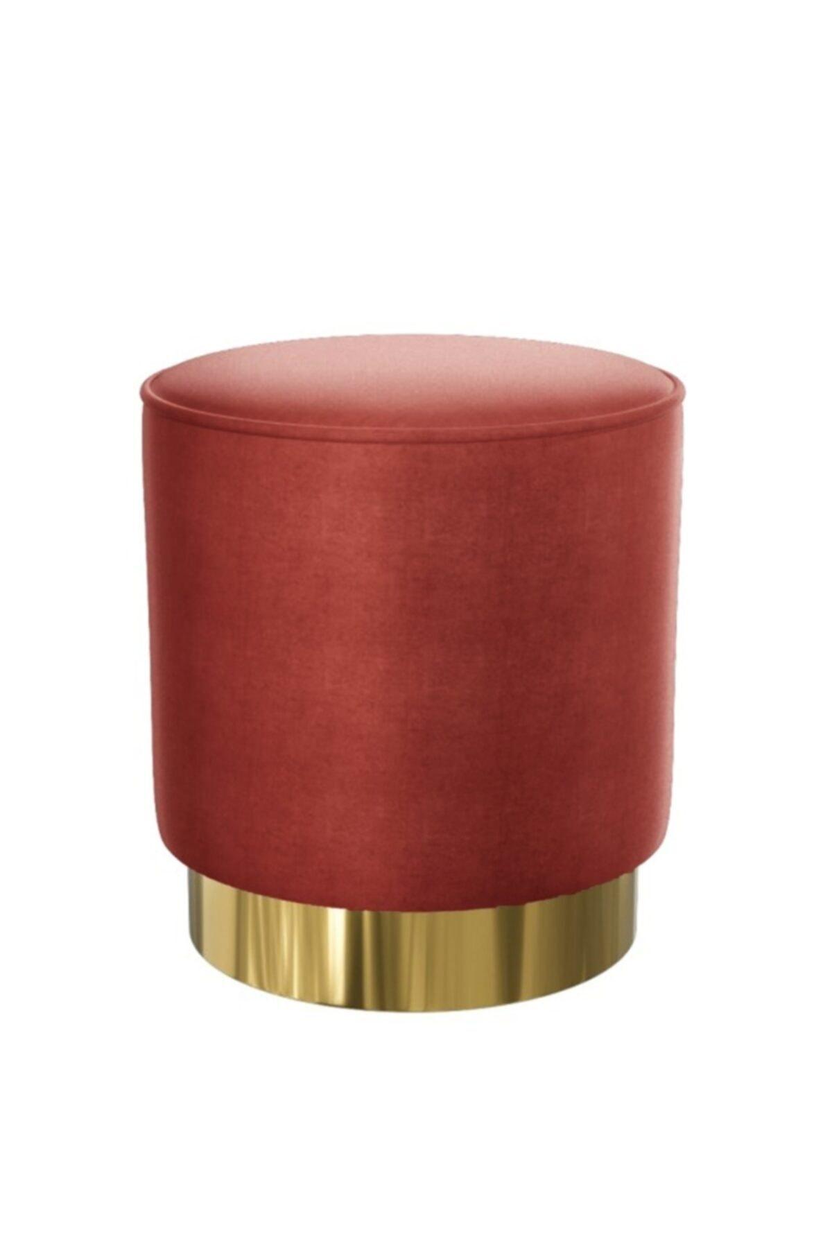Zem Nora Silinebilir Puf - Red Gold 2