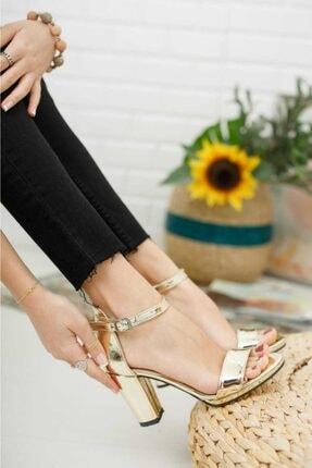 KILINÇ Kadın Altın Tek Bant Zenne Ayakkabı