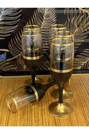 Paşabahçe Bistro Siyah Gold Kahve Yanı Su Bardağı 6 Kişilik