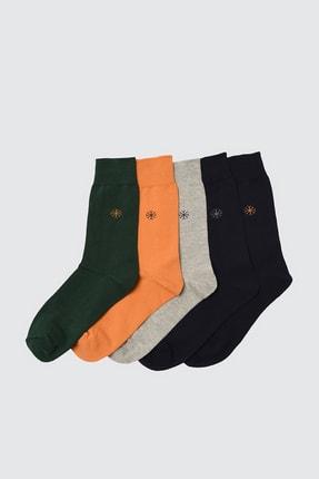 TRENDYOL MAN Çok Renkli Erkek 5'li Paket Çorap TMNAW20CO0013
