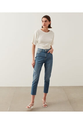 İpekyol Slim Straight Cropped Fit Jean Pantolon