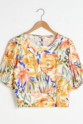 LC Waikiki Kadın Turuncu Baskılı LCW Vision Bluz