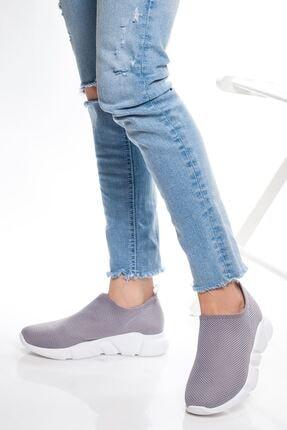 derithy Kadın Gri Sneaker