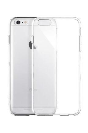 Sunix Apple Iphone 6s Uyumlu   Tam Şeffaf Silikon Şeffaf Kılıf