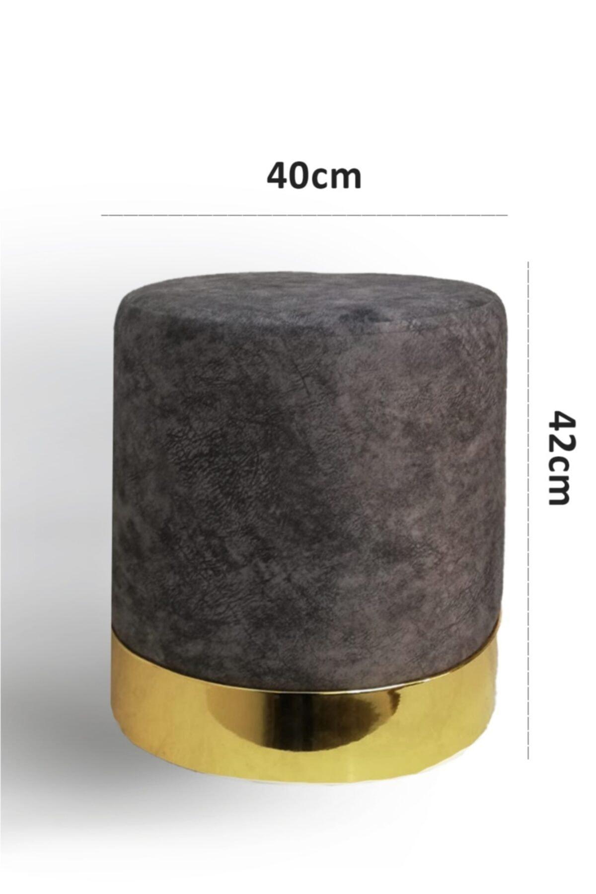 Zem Queen Grey - Gold Puf 2