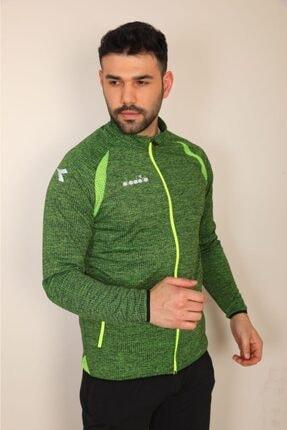 Diadora Erkek Açık Yeşil Spor Sweatshirt