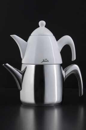 Jumbo 6500 Çelik Saplı Porselenli Çaydanlık