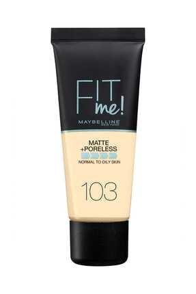 Maybelline New York Mat Fondöten - Fit Me Matte + Poreless Foundation 103