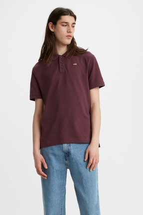 Levi's Erkek Mürdüm Pamuklu Polo Yaka T-shirt 22401