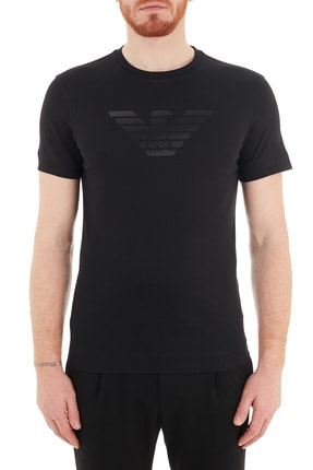 Emporio Armani Baskılı Bisiklet Yaka % 100 Pamuk T Shirt Erkek T Shirt 3k1te6 1jshz 0999
