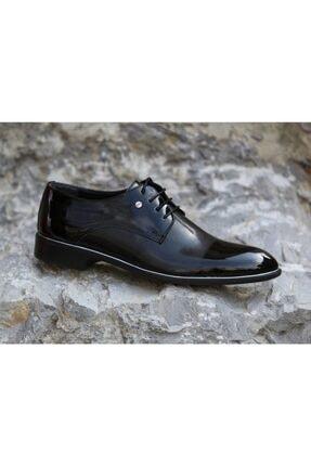 ERMİŞ KUNDURA Erkek Damatlık Günlük Bağcıklı Rugan Klasik Ayakkabı