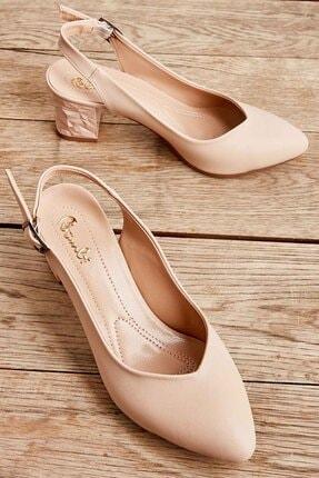 Bambi Bej Kadın Klasik Topuklu Ayakkabı K01688071109