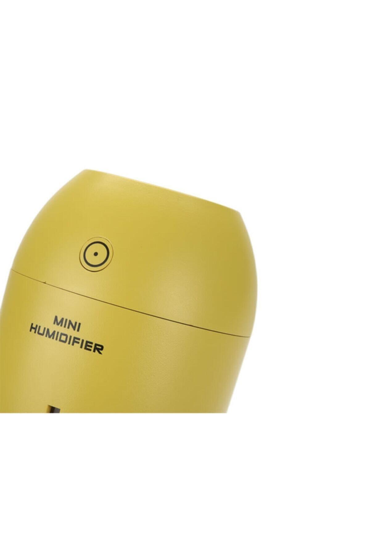 Gomax Limon Tipi Mini Hava Nemlendirici Buhar Makinesi - Sarı 2