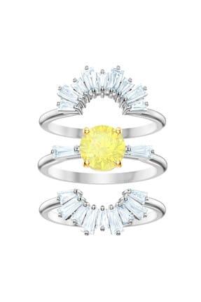 Swarovski Kadın Yüzük Sunshine:Ring Set Czwh/Rhs 50 5482498