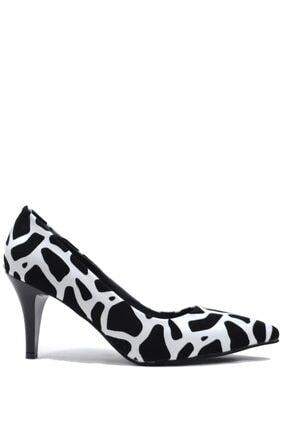 Buffalo Kadın Siyah Beyaz Audra Dalmatıan Topuklu Ayakkabı