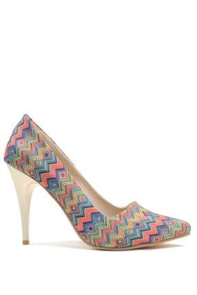 Buffalo Kadın Renkli Topuklu Ayakkabı