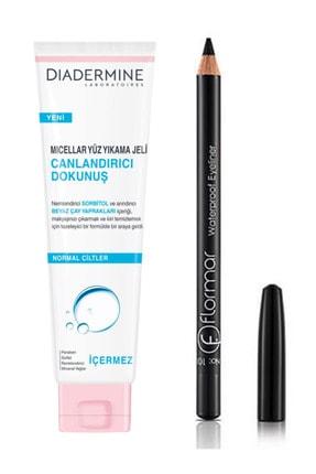 Diadermine Canlandırıcı Dokunuş Yüz Yıkama Jeli Ve Flormar Göz Kalemi Siyah Eyeliner