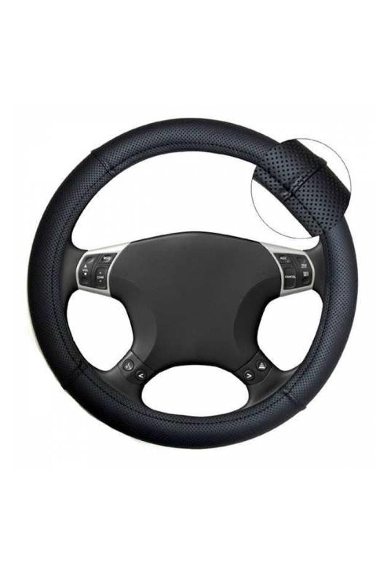 AutoFresh Opel Astra J Uyumlu Direksiyon Kılıfı Terletmez Kaliteli Lüks Araca Özel Siyah Suni Deri 1