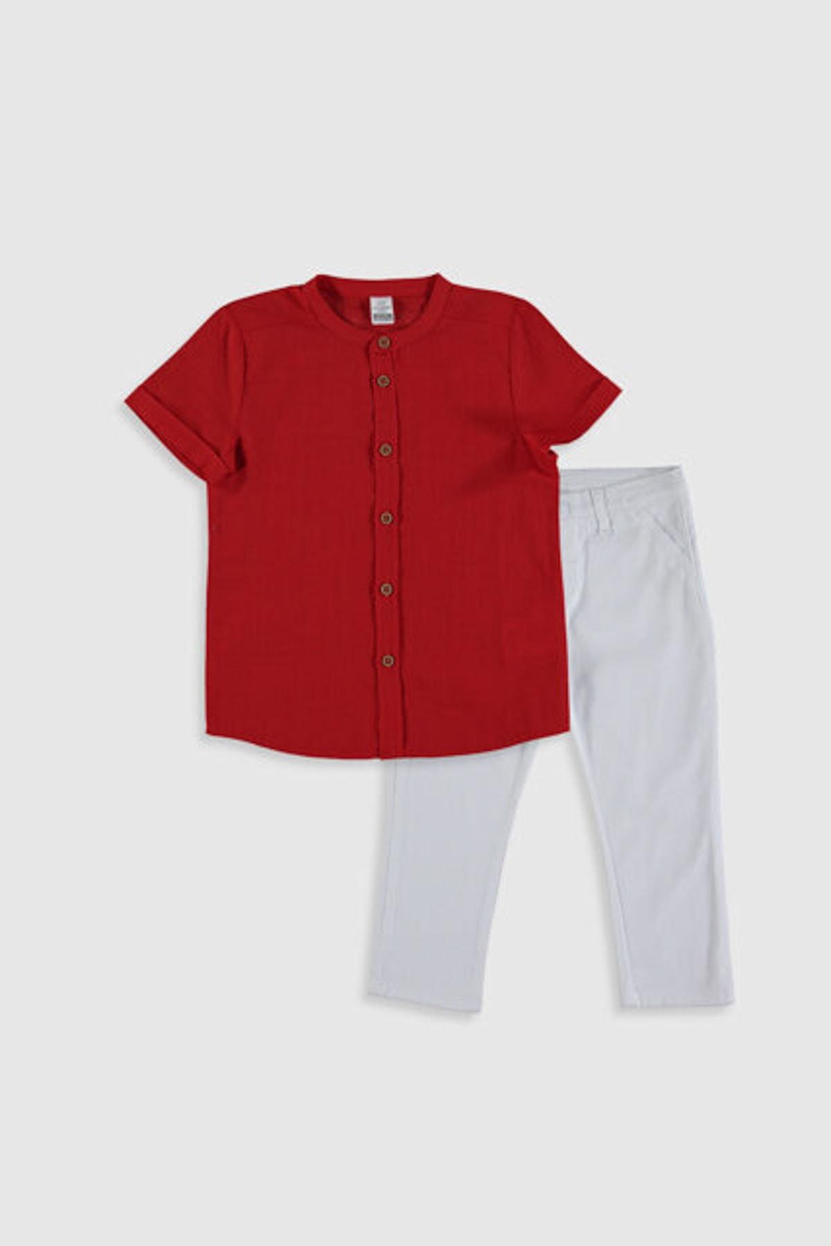 LC Waikiki Erkek Bebek Kırmızı Mtj Bebek Takımları 1