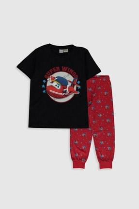 LC Waikiki Super Wings (Harika Kanatlar) Erkek Çocuk Kırmızı Baskılı Ltq Pijama Takımı