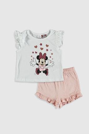 LC Waikiki Minnie Mouse Kız Bebek Optik Beyaz E5X Bebek Takımları