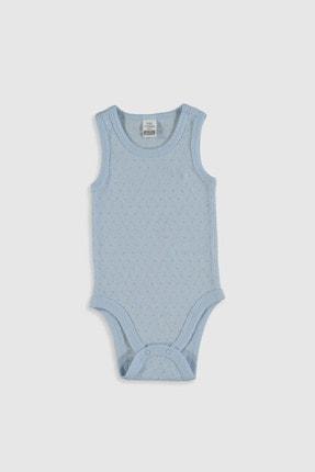 LC Waikiki Kız Bebek Açık Mavi Qt3 Bebek Body & Zıbın