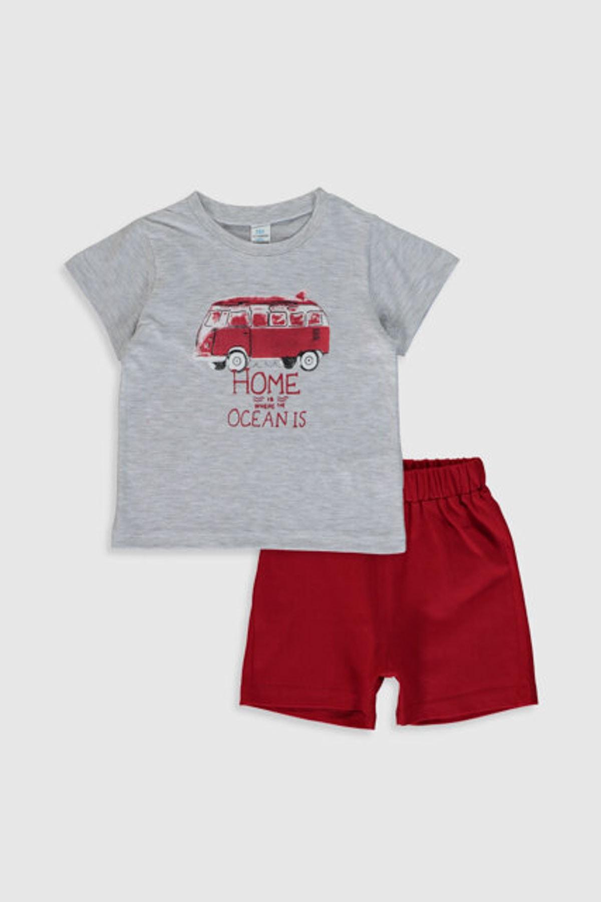 LC Waikiki Erkek Bebek K.Kırmızı Crj Bebek Takımları 1