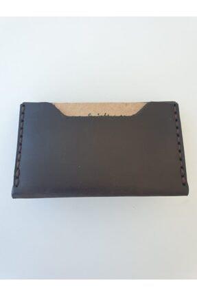 Lft Leather Craft El Yapımı Hakiki Deri Unisex Slim Kartlık Tiny Kahve