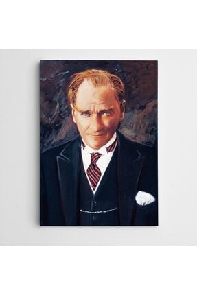 Dekolata Atatürk Tablosu Renkli Portre Kanvas Tablo 40 X 60 Cm