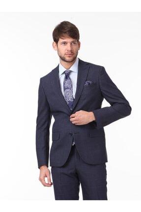 Kip Erkek Lacivert Kareli Dokuma Takım Elbise KP10114276