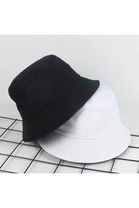 Köstebek Unisex Siyah Düz Bucket Şapka