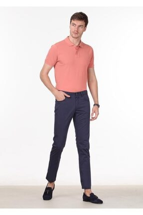 Ramsey Erkek Lacivert Düz Dokuma Pantolon RP10120058