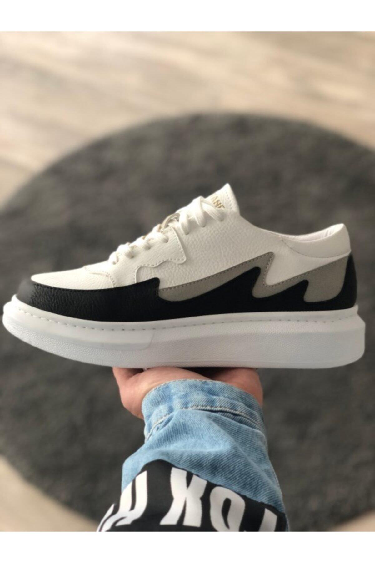 DE PLEIN Capitano Sneaker Beyaz-Siyah Erkek Ayakkabı 2