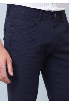Ramsey Erkek Lacivert Düz Dokuma Pantolon RP10119675
