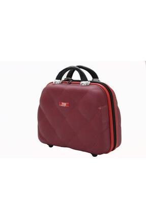 MY SARACİYE My Luggage 50135 Bordo Bakalit Seyahat Makyaj Çantası