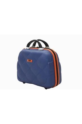 MY SARACİYE My Luggage 50135 Çivit Mavi Bakalit Seyahat Makyaj Çantası