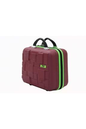 MY SARACİYE My Luggage 50136 Bordo Bakalit Seyahat Makyaj Çantası