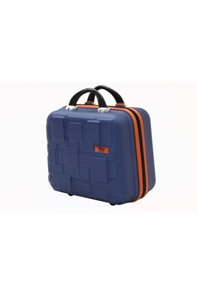 MY SARACİYE My Luggage 50136 Çivit Mavi Bakalit Seyahat Makyaj Çantası